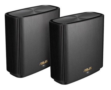 ZenWiFi XT8 2 pack Black, ASUS AX Whole-Home Tri-Band Mesh WiFi 6 System (XT8)