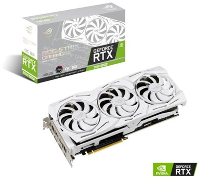 ASUS ROG STRIX GeForce RTX 2080 SUPER OC 8GB White Gaming Graphics Card, 90YV0DH3-M0NM00
