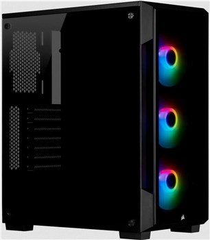 Corsair ICUE 220T RGB Tempered Glass Smart Mid Tower Case - Black, CC-9011190-WW