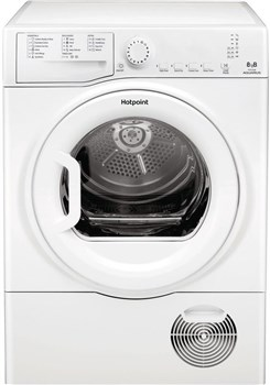 Hotpoint TCFS83BGP Freestanding 8kg Condenser Tumble Dryer - White,