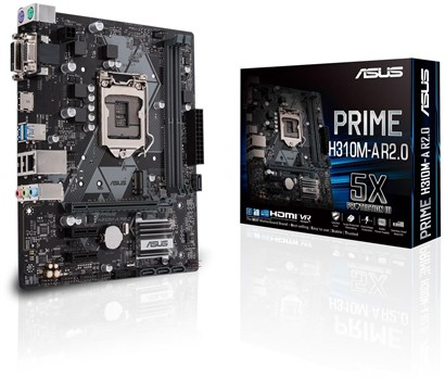 ASUS Prime H310M-A R2.0 Motherboard, 90MB0Z10-M0EAY0