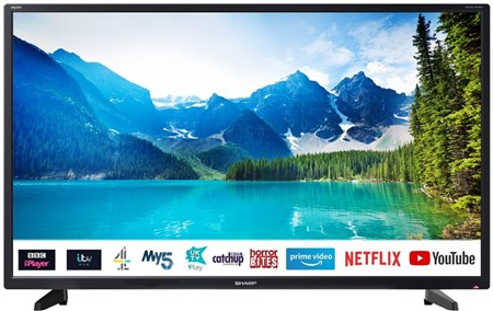 "Sharp 32BC2I 32"" HD Ready Smart LED TV, 1T-C32BC2IH2NB (32BC2I)"