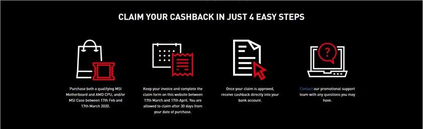 + Cashback