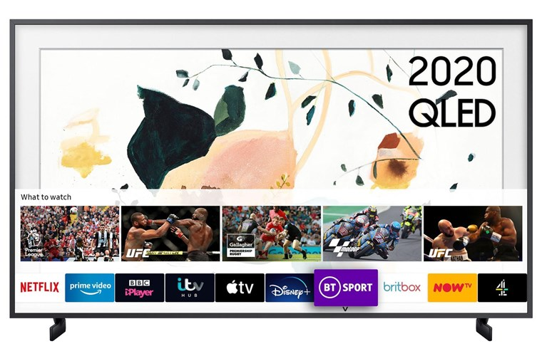 "QE32LS03TBKXXU, Samsung The Frame 2020 32"" QE32LS03T Art Mode QLED Full HD HDR Smart TV with No-Gap Wall Mount in-box"