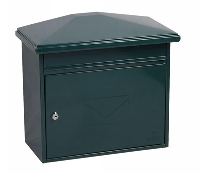 MB0115KG, Phoenix Libro Front Loading Letter box MB0115KG in Green with Key Lock