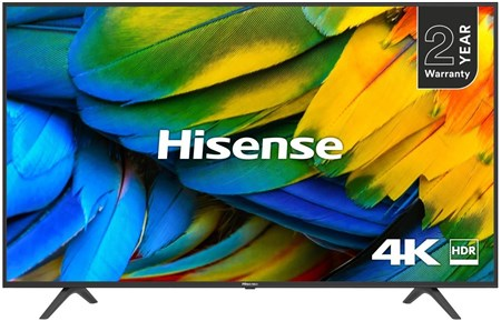 "Hisense H43B7100UK 43"" 4K Ultra HD HDR Smart TV with Freeview Play,"