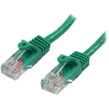 45PAT50CMGN, StarTech.com 0.5m Green Cat5e Ethernet Patch Cable with Snagless RJ45 Connectors