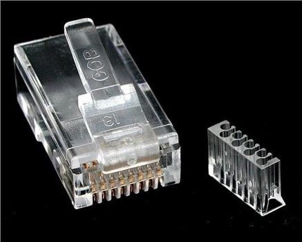 CRJ45C6SOL50, StarTech.com Cat 6 RJ45 Modular Plug for Solid Wire - 50 Pack