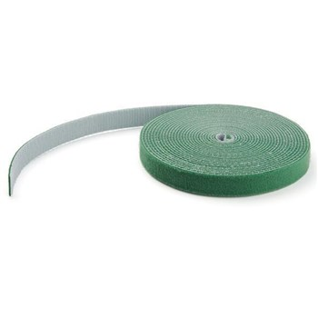 HKLP25GN, StarTech.com 25ft. Hook and Loop Roll - Green Reusable