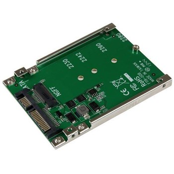 SAT32M225, StarTech.com M.2 SSD to 2.5in SATA Adapter Converter with Open Frame Housing & 7mm Height