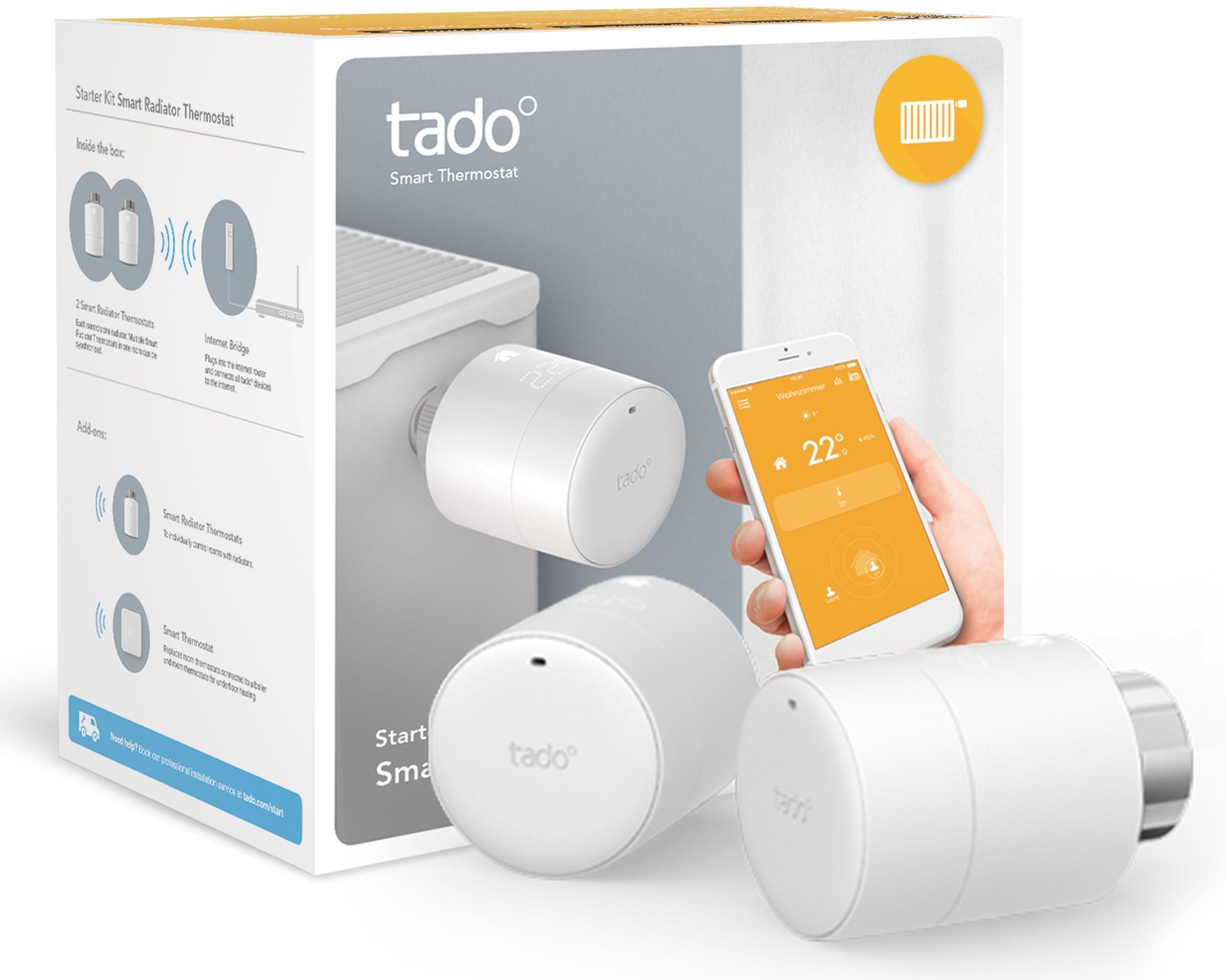 tado Smart Radiator Thermostat Starter Kit - Horizontal