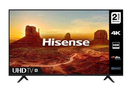 "55A7100FTUK, Hisense 55A7100FTUK 55"" 4K Ultra HD HDR Smart TV with Freeview Play"