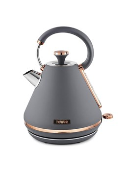 T10044RGG, Tower Cavaletto 1.7L Grey and Rose Gold Pyramid Kettle (T10044RGG)