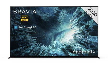 "KD-85ZH8BU, Sony BRAVIA KD85ZH8 85"" 8K Full Array HDR Smart Android LED TV with Voice Control"