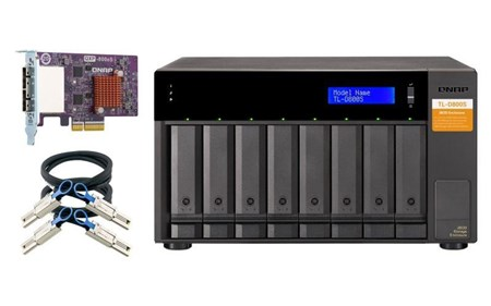 QNAP TL-D800S 8-Bay Desktop JBOD Storage Enclosure,