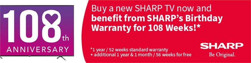 Claim a 2 Year warranty