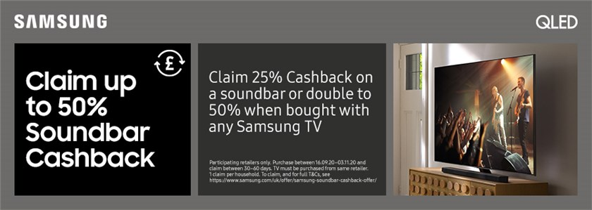 50% Cashback on Soundbar