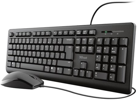 Trust Primo Wired Keyboard & Mouse Set, 23974