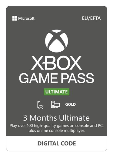 Xbox Game Pass Ultimate - 3 Month Subscription (Digital Code), QHX-00006