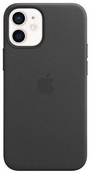 MHKA3ZM/A, Official Apple iPhone 12 mini Leather Case With MagSafe - Black