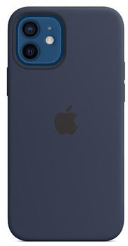 MHL43ZM/A, Official Apple iPhone 12 and Pro Silicone Case With MagSafe - Deep Navy