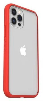 77-80160, OtterBox React Series iPhone 12 and Pro Case - Red / Clear