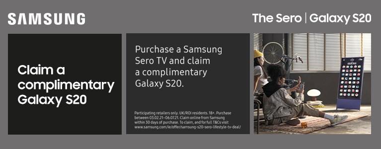 Claim a Samsung GalaxyS20