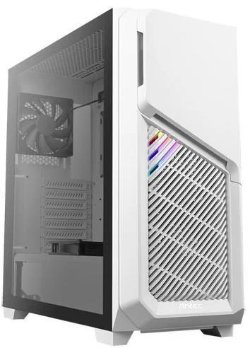 0-761345-80051-8, Antec DP502 Flux Tempered Glass Mid Tower Case - White