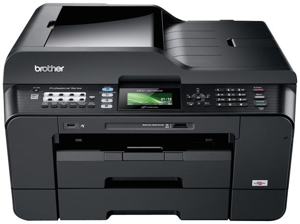 Brother MFC-6710DW Duplex Wireless A3 Colour Inkjet Multifunction Printer, MFCJ6710DWZU1