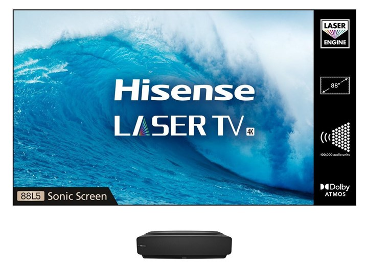 88L5VGTUK, Hisense 88L5 4K Laser TV with ALR Sonic Screen HDR10 and Dolby Atmos®