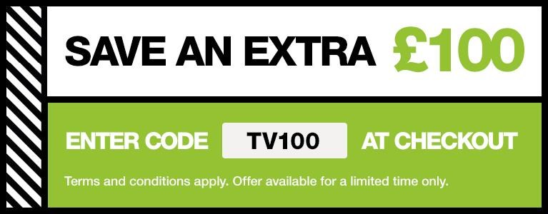 Save £100 with promo code