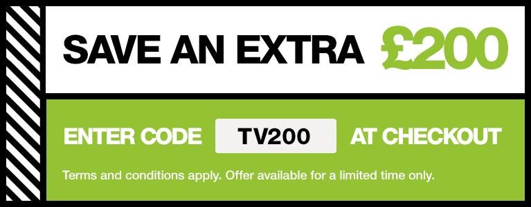 Save £200 with promo code
