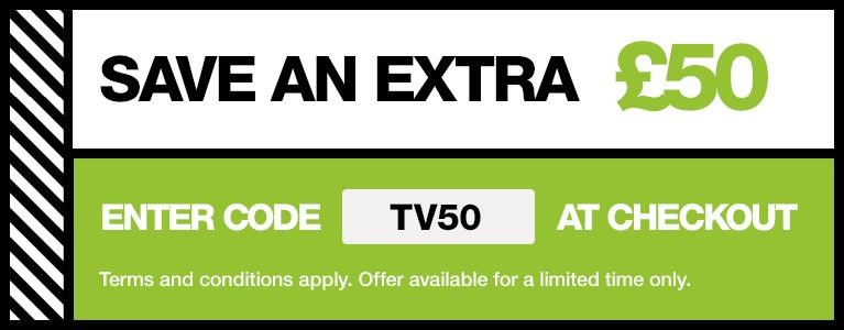 Save £50 with promo code