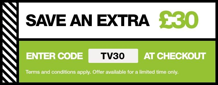 Save £30 with promo code