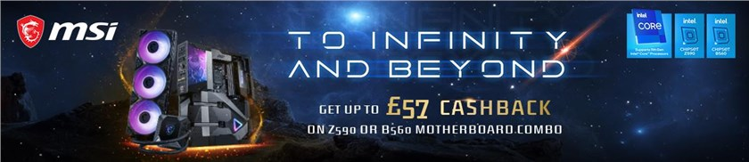 + Up to £57 Cashback