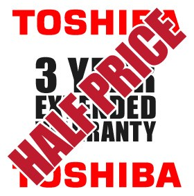 3 Year Collect & Return Warranty For Toshiba Products - HALF PRICE