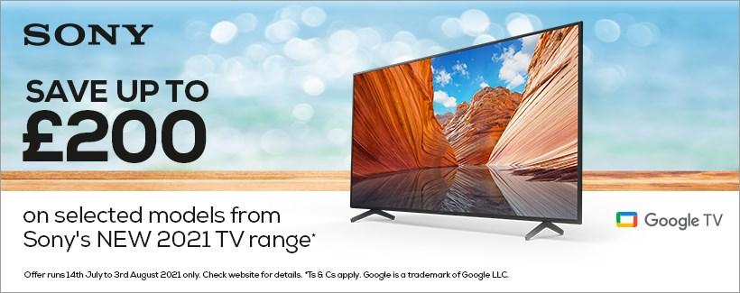 Save on select Sony 2021 TVs
