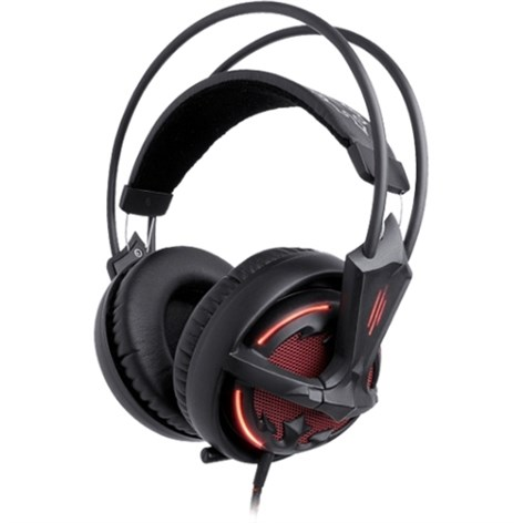 SteelSeries Diablo III Wired Stereo Headset, Black, Over-the-head, Binaural SNR, Ear-cup, Noise Cancelling, 57002