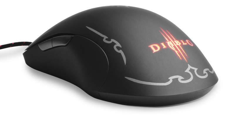 SteelSeries Diablo III  Wired Gaming Laser Mouse, 5700 DPI, 8 Button, Slip Resistant, Anti-Tangle Braided 2.5m Cord, Ambidextrous Design, 62151