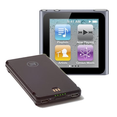 Apple iPod Nano 8Gb 6th Gen (Graphite) + Third Rail Smart Battery (Standalone Backup Battery) Bundle