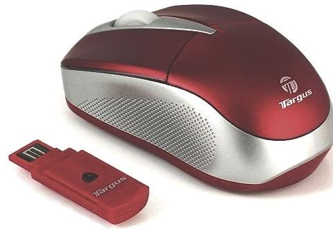 Targus Wireless Stow-N-Go Wireless Optical Mouse - Dark Red was £24.95
