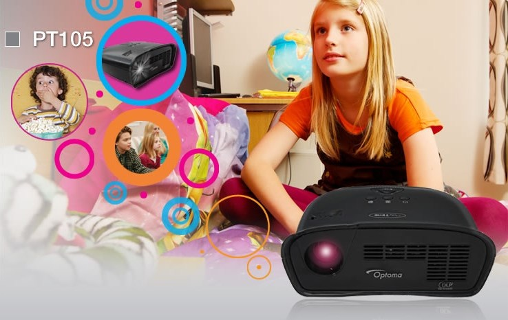 Optoma PT105 Playtime Fun LED Projector,