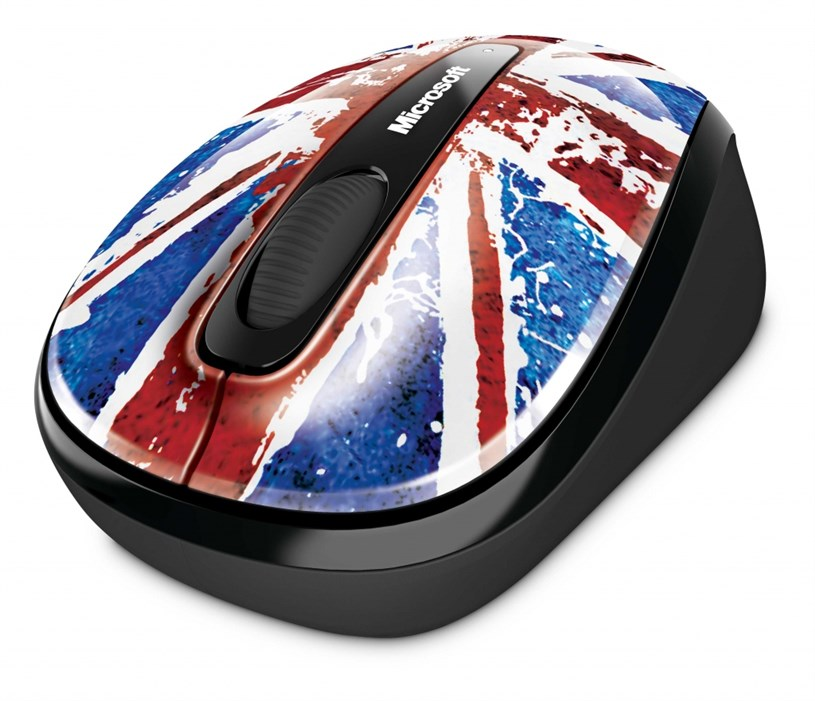 Microsoft Great British Mouse with BlueTrack Technology, Limited Edition Union Flag design, Plug-And-Go Nano Transceiver