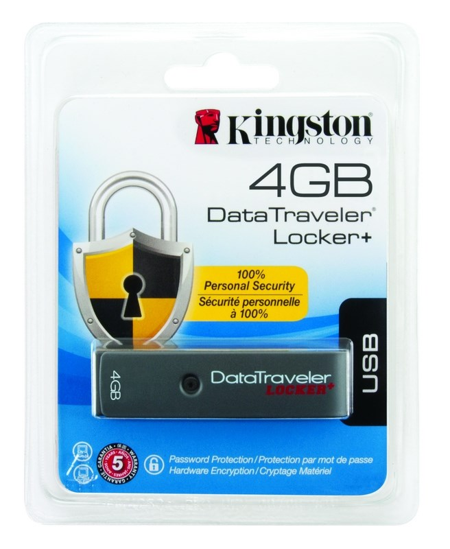 Kingston 4Gb Usb 2.0 Datatraveler Pen Drive Locker+ With Encryption,DTL+/4GB
