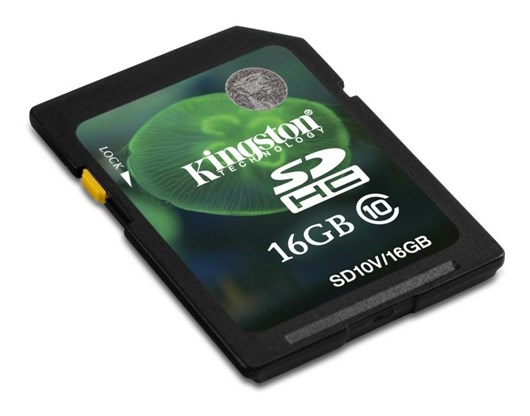 Kingston 16 GB Secure Digital High Capacity (SDHC) - 1 Card, Class 10