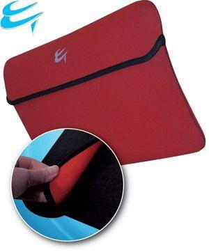 "Luxury Neoprene Slip Case 17.3"" Reversible sleeve [BLACK/RED]"