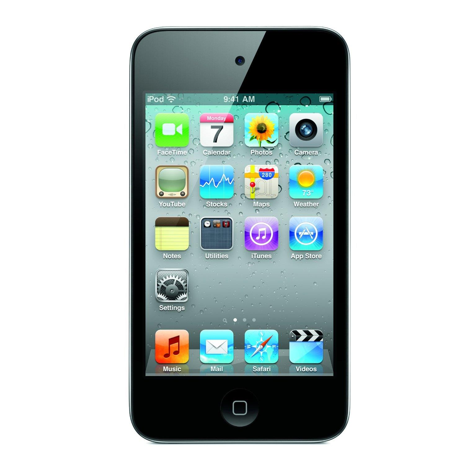 Apple iPod Touch 64Gb 4th Gen (Black) + Free Proporta Antimicrobial Silicone Case worth £9.95
