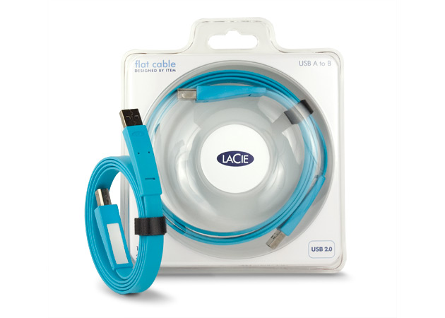 LaCie 130845 USB A to B Flat Data Transfer Cable