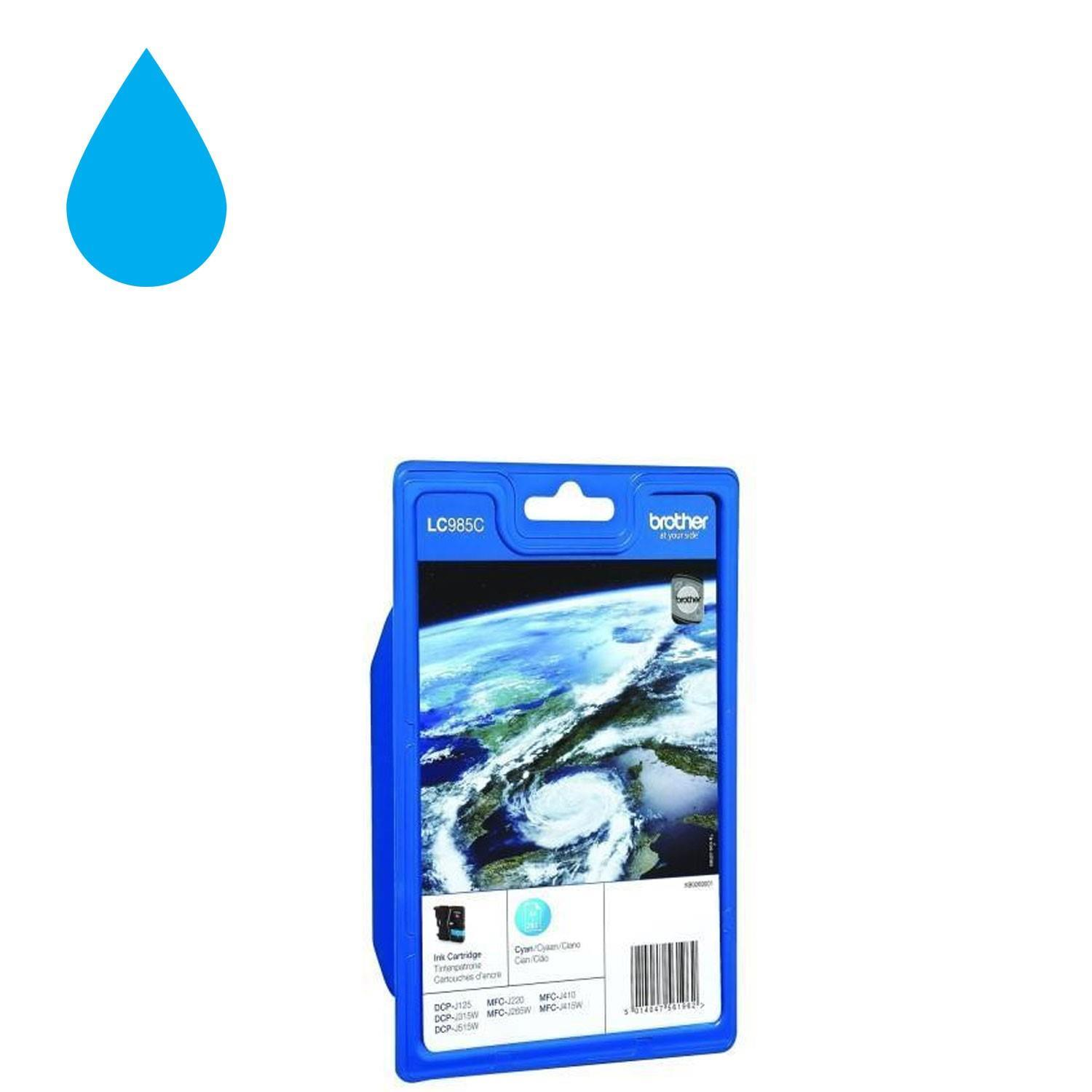 Brother LC985C Ink Cartridge - Cyan