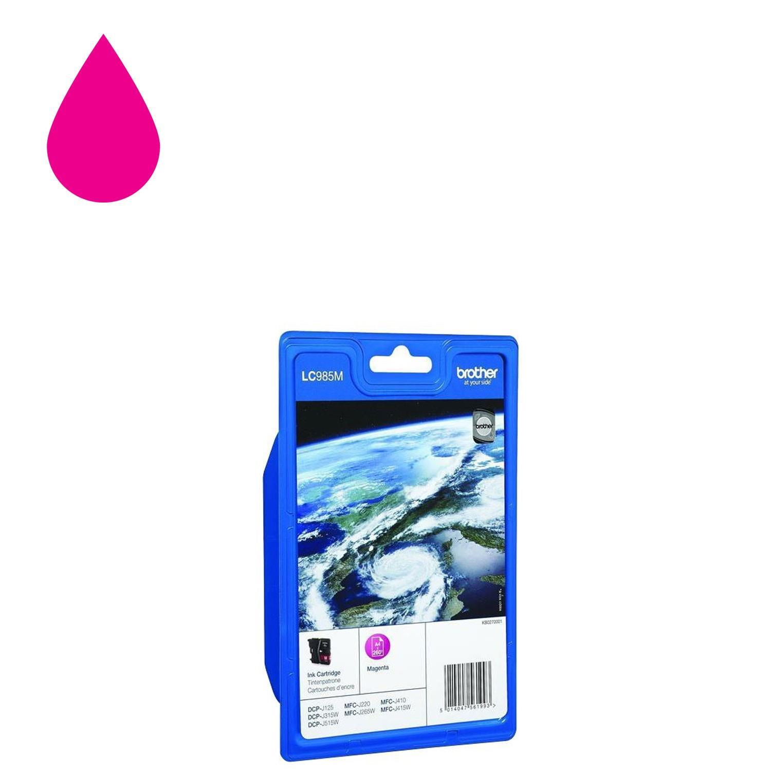Brother LC985M Ink Cartridge - Magenta